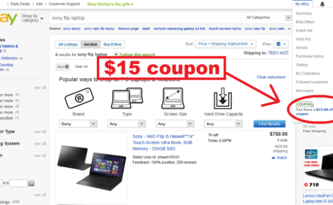 How To Use Ebay Coupon Code Cute766