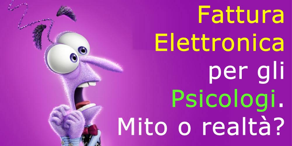 Esenzione Fattura Elettronica Per Gli Psicologi Mito O Realtà