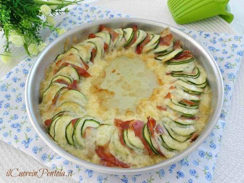 Zucchine Al Forno Con Speck E Scamorza