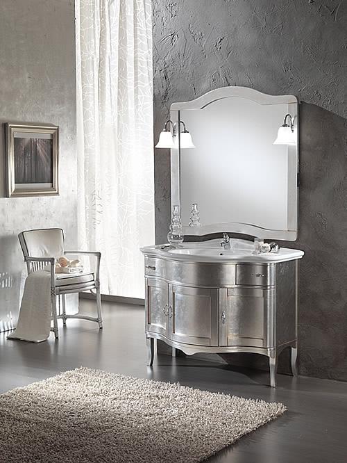 Mobili bagno classico Zenith foglia argento