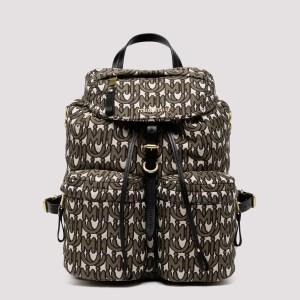 Miu Miu - Logo Canvas Backpack K - (k) One Size@u