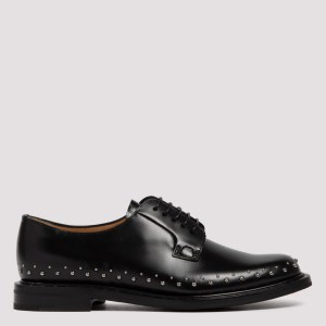 Church`s - Black Shannon Met 2 Studded Shoes 40