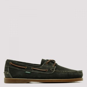 Paraboot - Barth Green Suede Boat Shoes 5