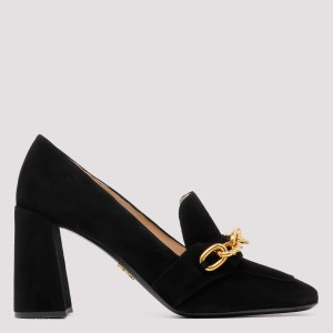 Prada - Black Pumps With Chain Details 36