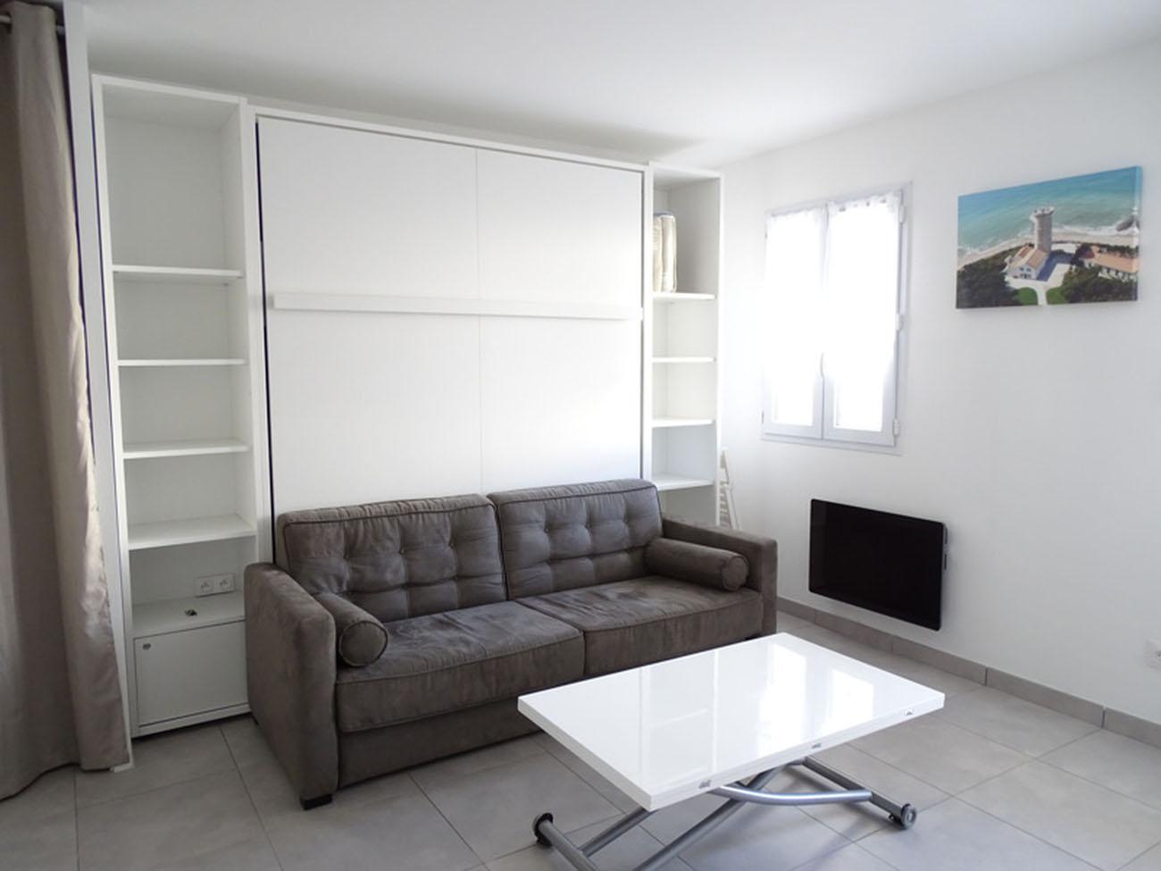 Location Appartement Ile de Ré - Carline - Pièce de vie