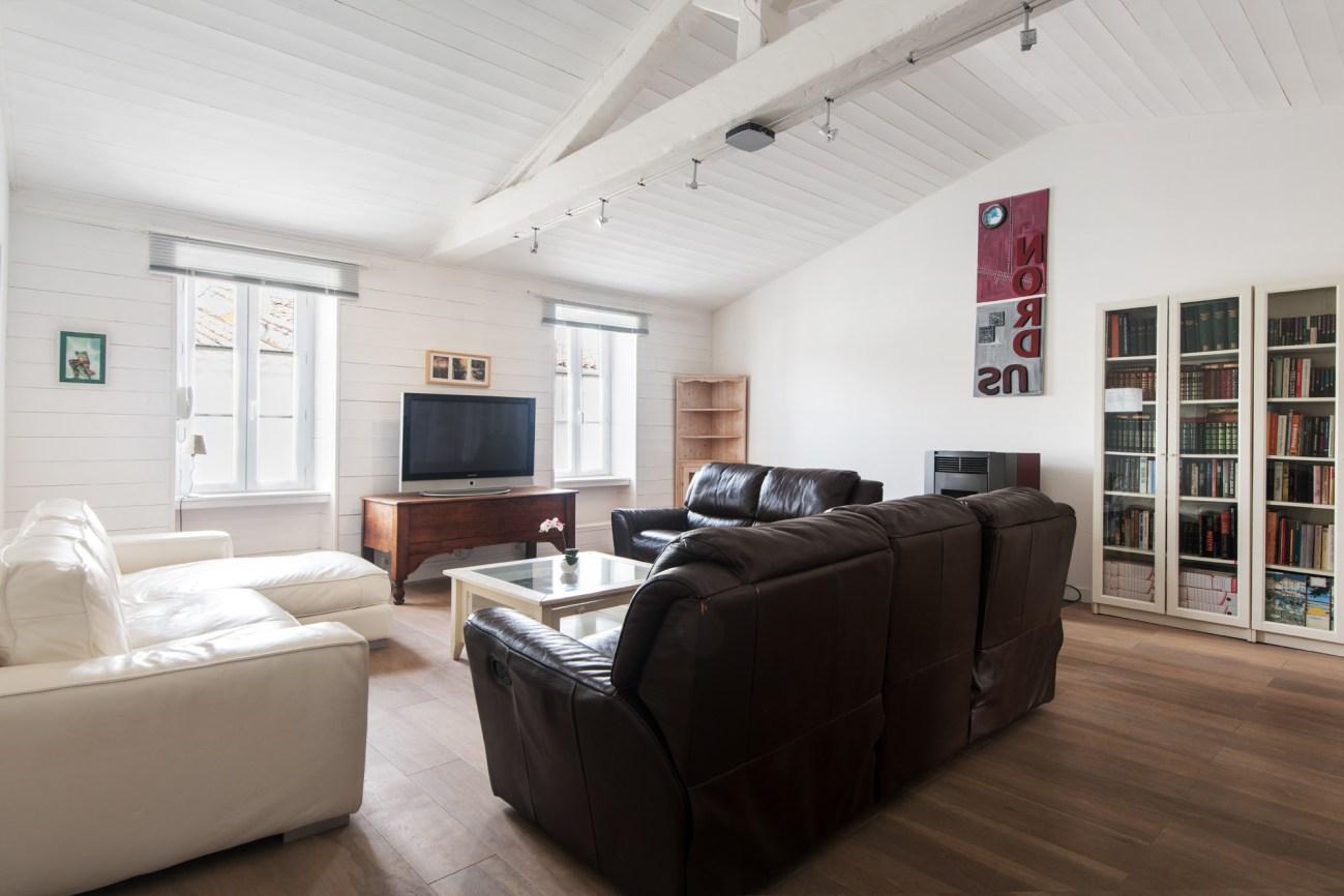 Location Maison Ile de Ré - La Suite - Salon 1