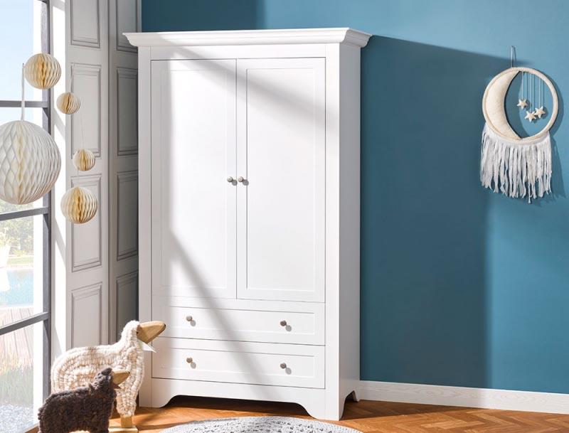 armoire avec tiroirs vintage blanc