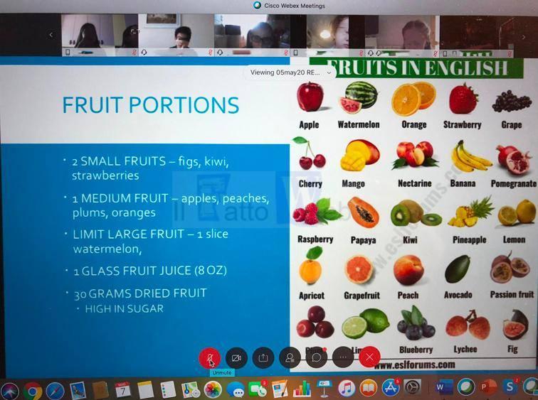 Lezione virtuale di sana alimentazione dei medici americani della NAS Sigonella per gli studenti dell'I.S.S. Scandura di Aci Catena
