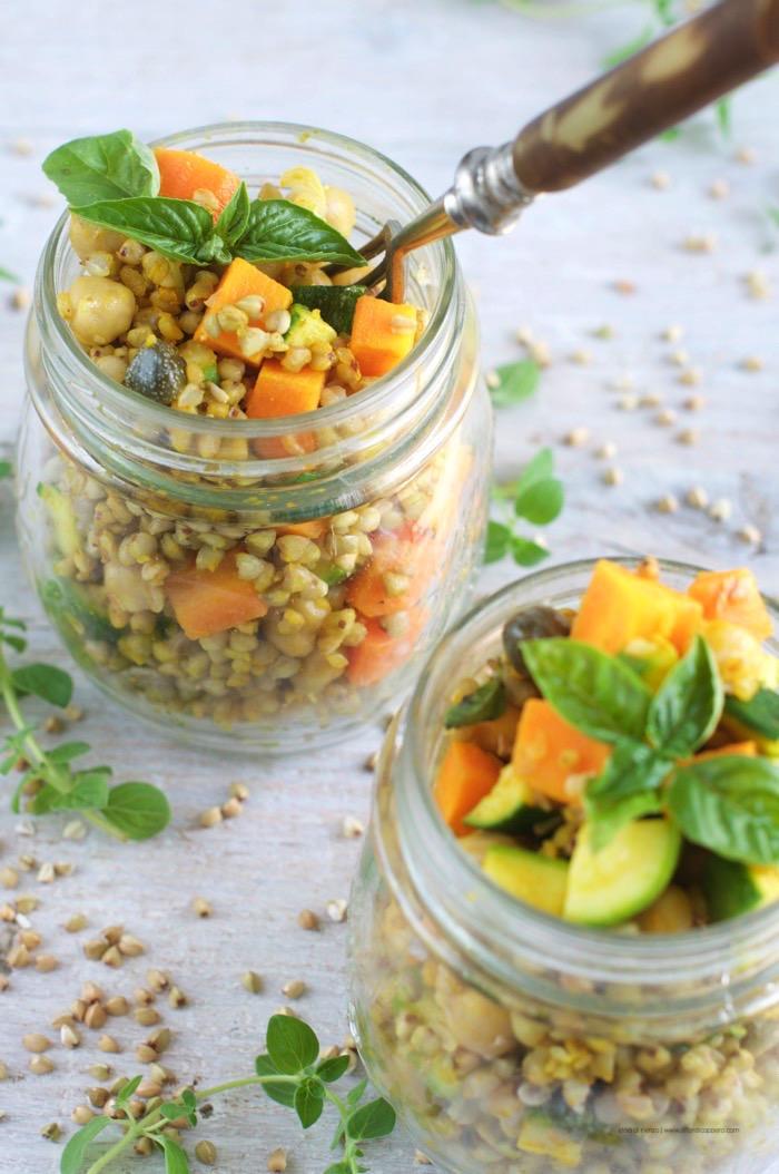 Risultati immagini per Insalata di grano saraceno olive mais