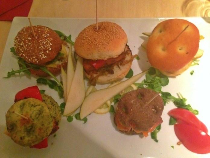 Selezione di hamburger Gnam