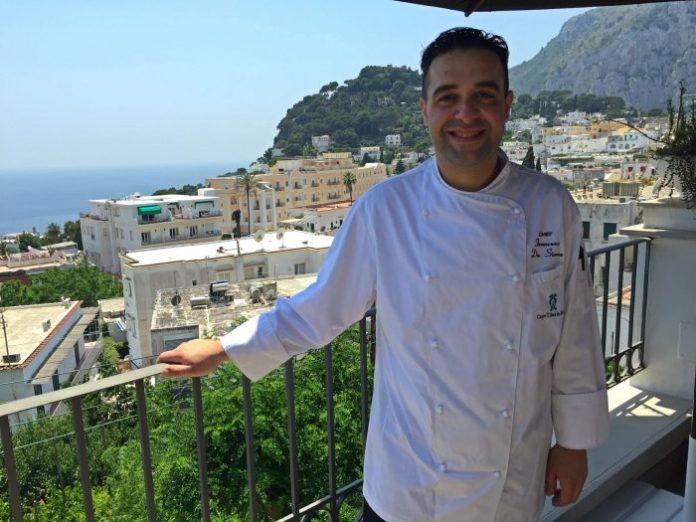 chef Francesco De Simone - ristorante terrazza di tiberio capri - foto il Forchettiere