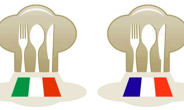 italia vs francia mangiare