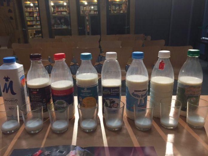 come si degusta il latte