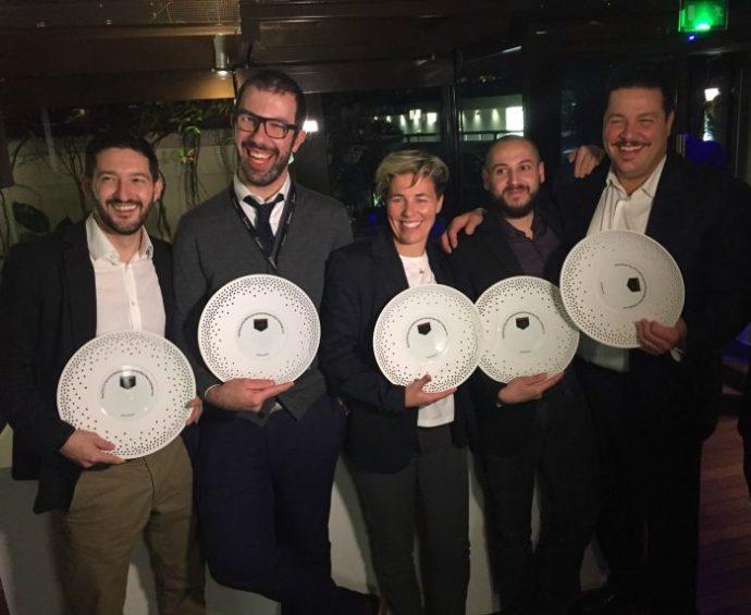 da sx gli chef Andreoni, Vannucci, Bottasso, Perini, Saporito