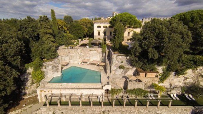 Borgo Pignano aerial view 2