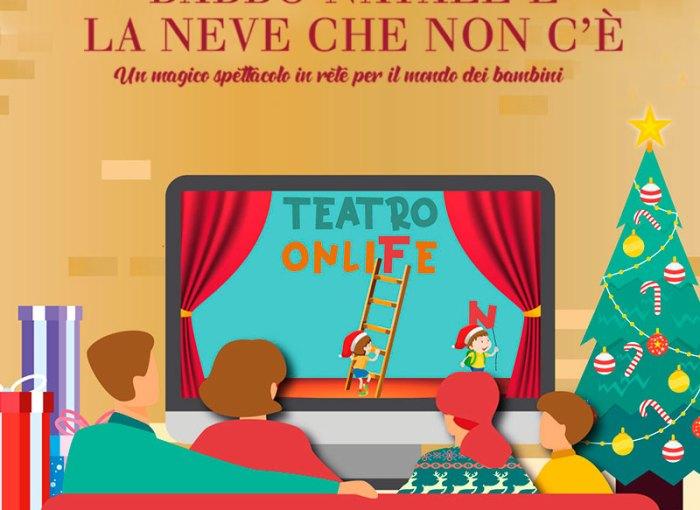 Foto Con La Neve Di Natale.Babbo Natale E La Neve Che Non C E Teatro Onlife Il Garda Con I Bimbi