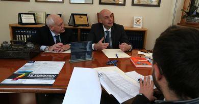 L'avvocato Alessandro Palmigiano e il professor Antonello Miranda