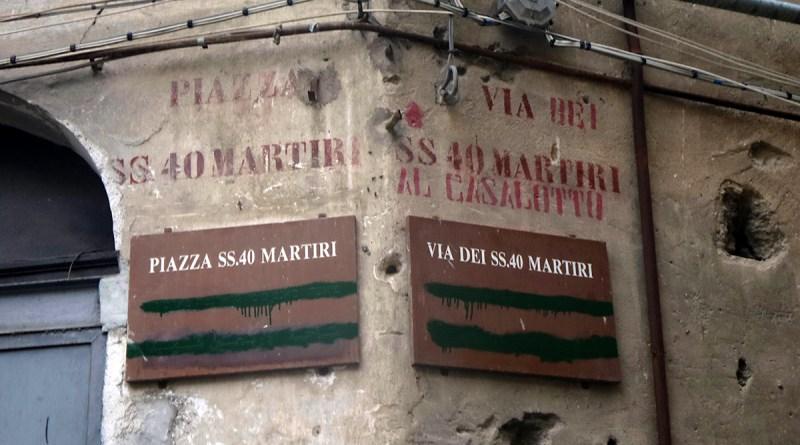 Piazza SS 40 Martiri, Palermo, cancellati nomi vie in arabo ed ebraico