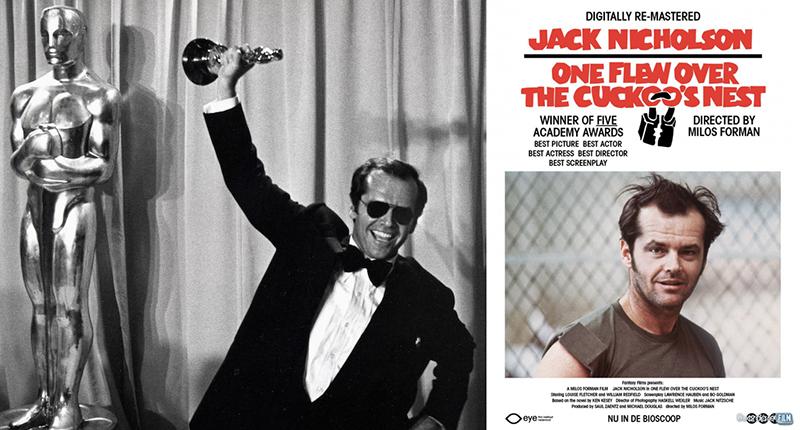 Jack Nicholson, oscar per Qualcuno volò sul nido del cuculo