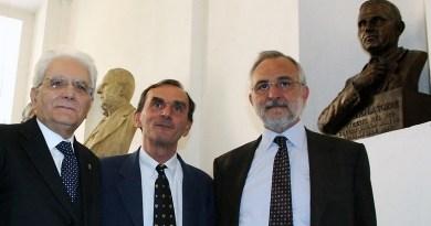 IL PRESIDENTE MATTARELLA ALLA SCOPERTURA DEL BUSTO DI PIO LA TORRE AL DIPARTIMENTO DI GIURISPRUDENZA
