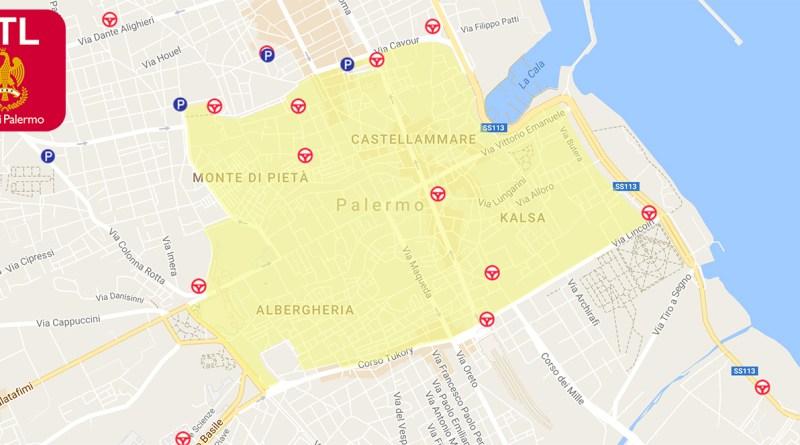 Ztl Palermo, cambiano le regole: è possibile acquistare il pass giornaliero entro le 24 ore del giorno in cui è stato effettuato il transito