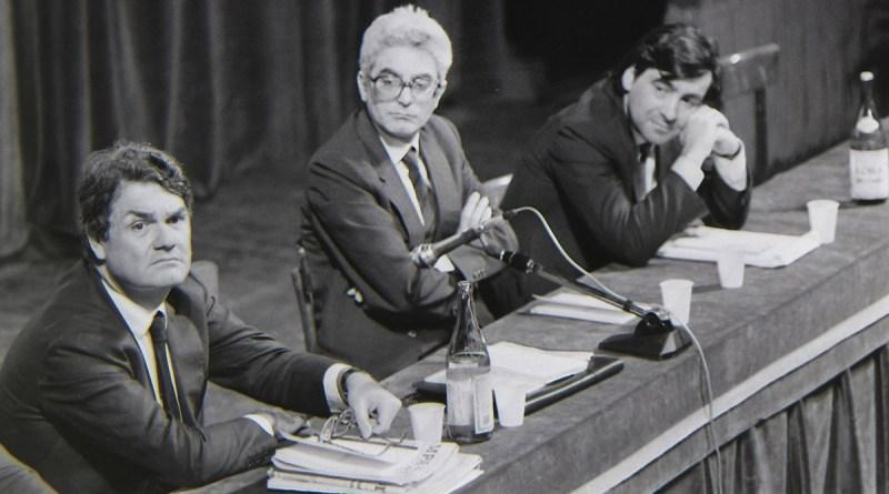 Calogero Mannino, Sergio Mattarella e Leoluca Orlando