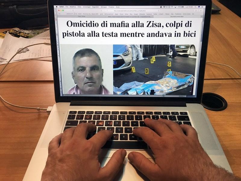 Sul web omicidio di mafia