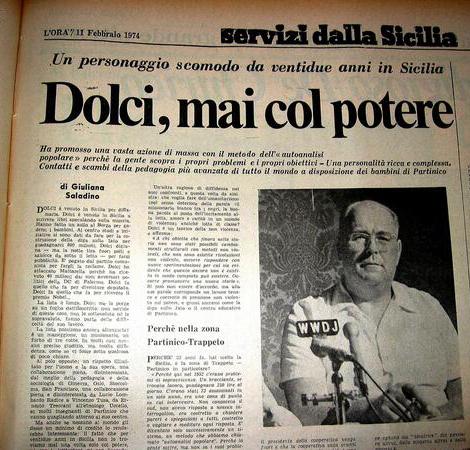 Danilo Dolci sulle pagine del quotidiano L'Ora