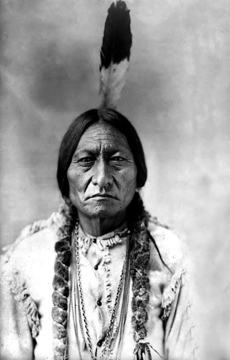 Il capo sioux Toro Seduto, che insieme a Cavallo Pazzo comandava gli indiani a Little Bighorn