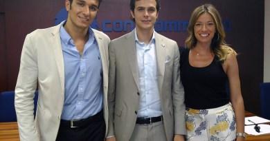 Da sinistra Dario Scalia, Giovanni Imburgia e Stefania Baio