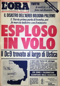 prima pagina l'ora su strage Ustica