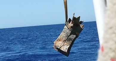 Dodicesimo rostro di bronzo recuperato in mare sul luogo della Battaglia delle Egadi