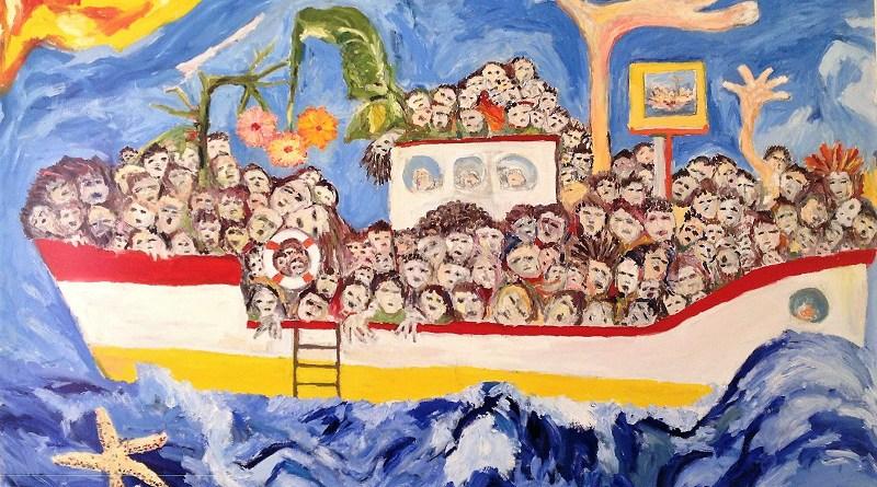 Migranti - Mediterraneo e Lampedusa. di Gabriele Bonafede - 2014