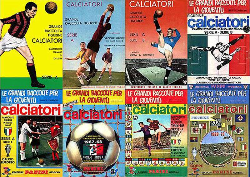 Copertine album figurine calciatori Edizioni Panini Modena