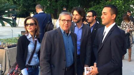 Aurelio Angelini e Luigi Di Maio a Villa Giulia, Palermo