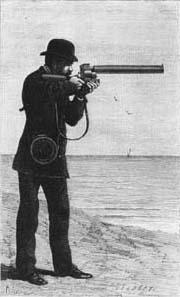 Il cronofotografo o fucile fotografico, di Etienne Jules Maray