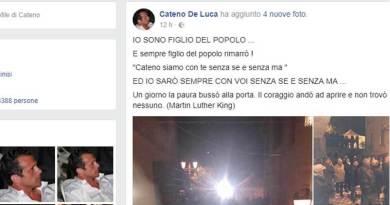 De Luca, ancora post su Facebook
