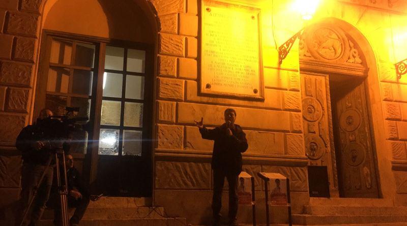 Claudio Fava a Corleone per la chiusura della campagna elettorale