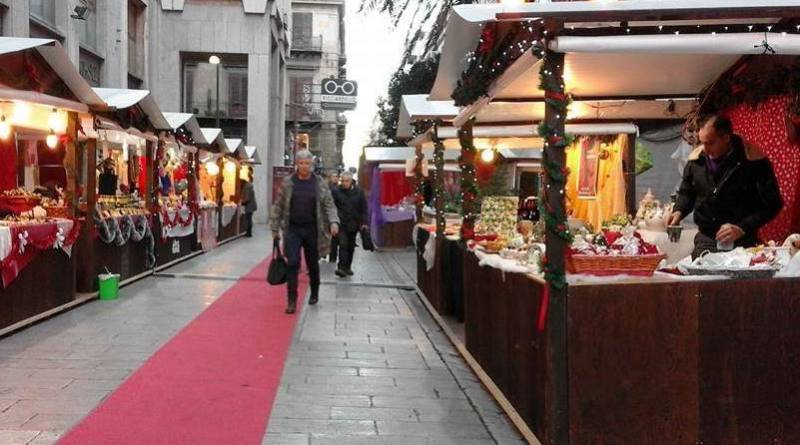 Palermo, in via Magliocco l'inaugurazione della fiera natalizia di Confartigianato