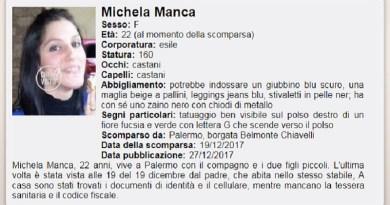 Nessuno notizia di Michela Manca, la giovane mamma palermitana scomparsa nella notte fra domenica 17 e lunedì 18 dicembre dal quartiere Santa Maria di Gesù