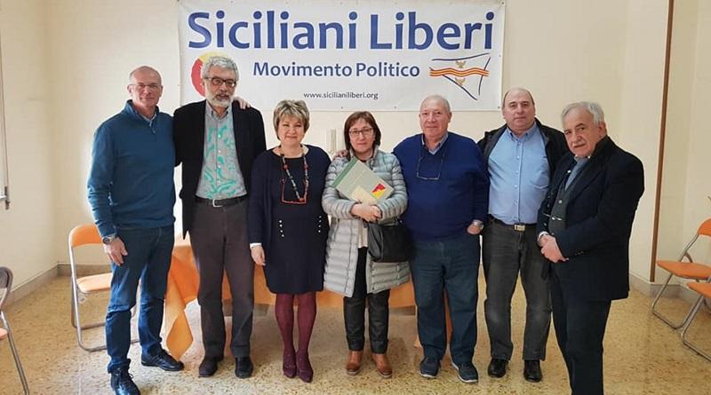 Due esponenti del partito catalano Estat Català, Jordi Miró e Conxita Bosch, visitano Palermo e la sede del Movimento Siciliani Liberi