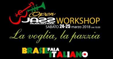 """A Palermo, """"La voglia, la pazzia"""" workshop in canto italiano sulle note brasiliane all'Open Jazz con i maestri del progetto musicale """"Brasil Fala Italiano"""""""