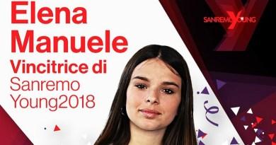 Elena Manuele, 15enne di San Gregorio di Catania, è la vincitrice della prima edizione di Sanremo Young, trasmissione condotta da Antonella Clerici
