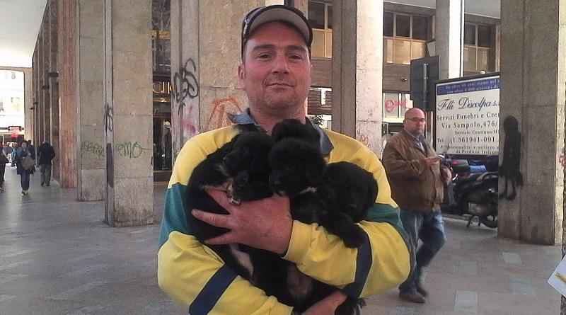 Nino Spina, l'uomo dei cani, passa dagli arresti domiciliari al carcere per aver violato la misura restrittiva. Mobilitazione degli animalisti per salvare i cuccioli