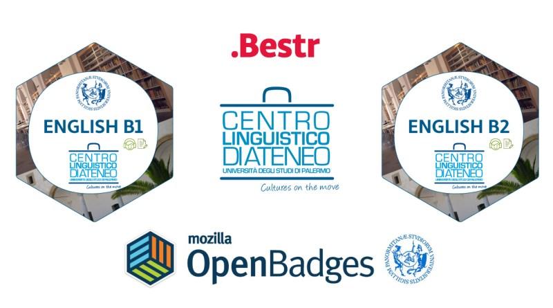 Open Badge relativi alla conoscenza della lingua inglese rilasciati dal Centro Linguistico di Ateneo - Cla, dell'Università degli studi di Palermo