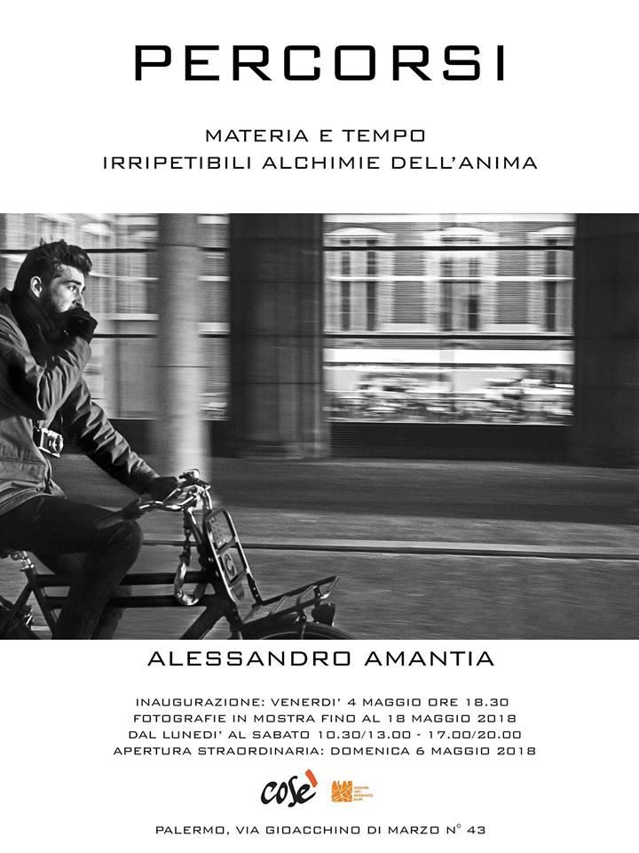 Dal 4 al 18 maggio si terrà a Palermo la mostra fotografica Percorsi, di Alessandro Amantia al laboratorio Cos'è, in via Gioacchino di Marzo