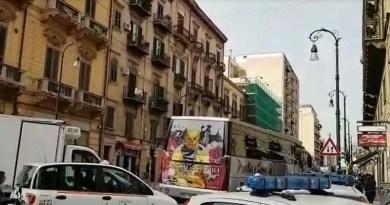 Palermo, lavori in via Roma: disagi per gli automobilisti. Polizia Municipale presente in forze per evitare che il traffico vada in tilt