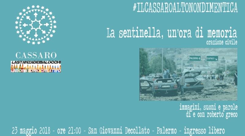 A Palermo orazione di Roberto Greco per le vittime delle stragi di Capaci e via D'Amelio