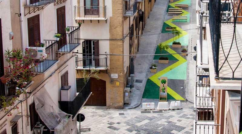 Palermo, Salita Raffadali trasformata in giardino: domani l'inaugurazione
