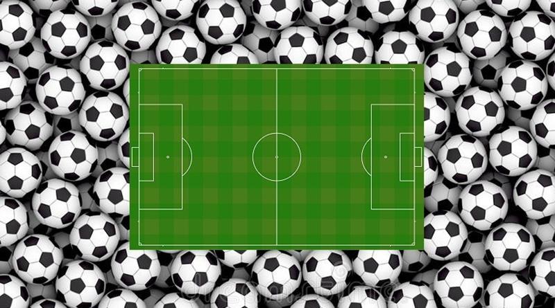 calcio, campo e palloni